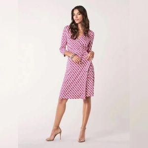 Diane Von Furstenberg Julian Two Wrap Silk Dress
